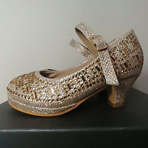 Link Riley - 78k  Pageant Jewel Rhinestone heels